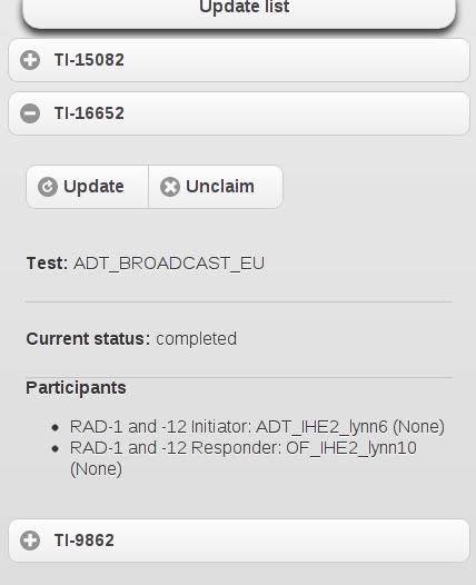 test instance summary