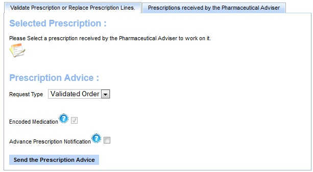pharmaceutical adviser main page