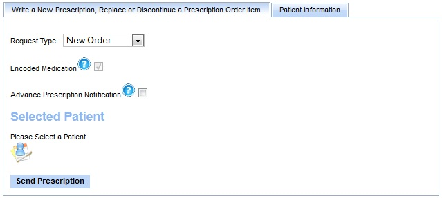prescription placer action table