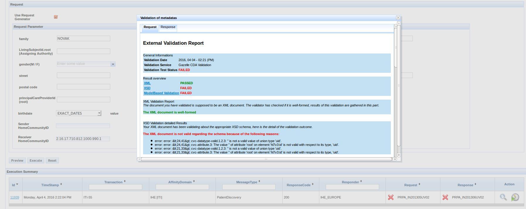 validation XCPD